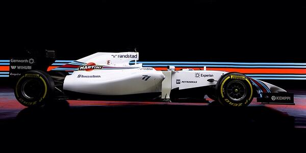 We are so excited to finally be able to show you our new car-welcome to WILLIAMS MARTINI RACING! #WilliamsMartini http://t.co/6NPECbK8MA