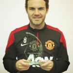 Thank you! Gracias a tod@s! @ManUtd @ManUtd_Es #Playerofthemonth http://t.co/qZpOYzaGSi