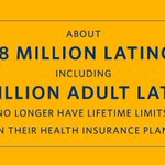 RT @lacasablanca: Spread the word: No more lifetime limits on insurance plans for 11.8 million Latinos #Asegurate #TuSaludyObama