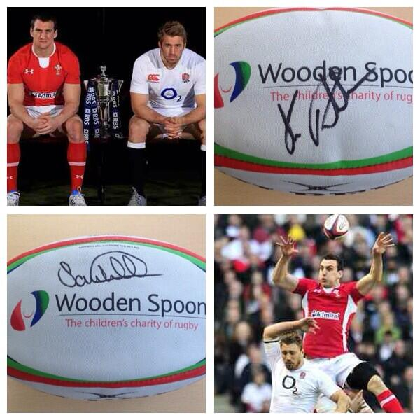 Just 72 hours until England v Wales KO! To win this ball signed by the captains simply RT! #ChildrensCharityofRugby http://t.co/ZtiQOmnIBE