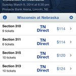 RT @NateClouse: According to @SeatGeek tickets for the #NebrasketbalI vs. #Wisconsin game this Sunday start at $114. #Huskers @Rivals http://t.co/0QgZRSpI3R