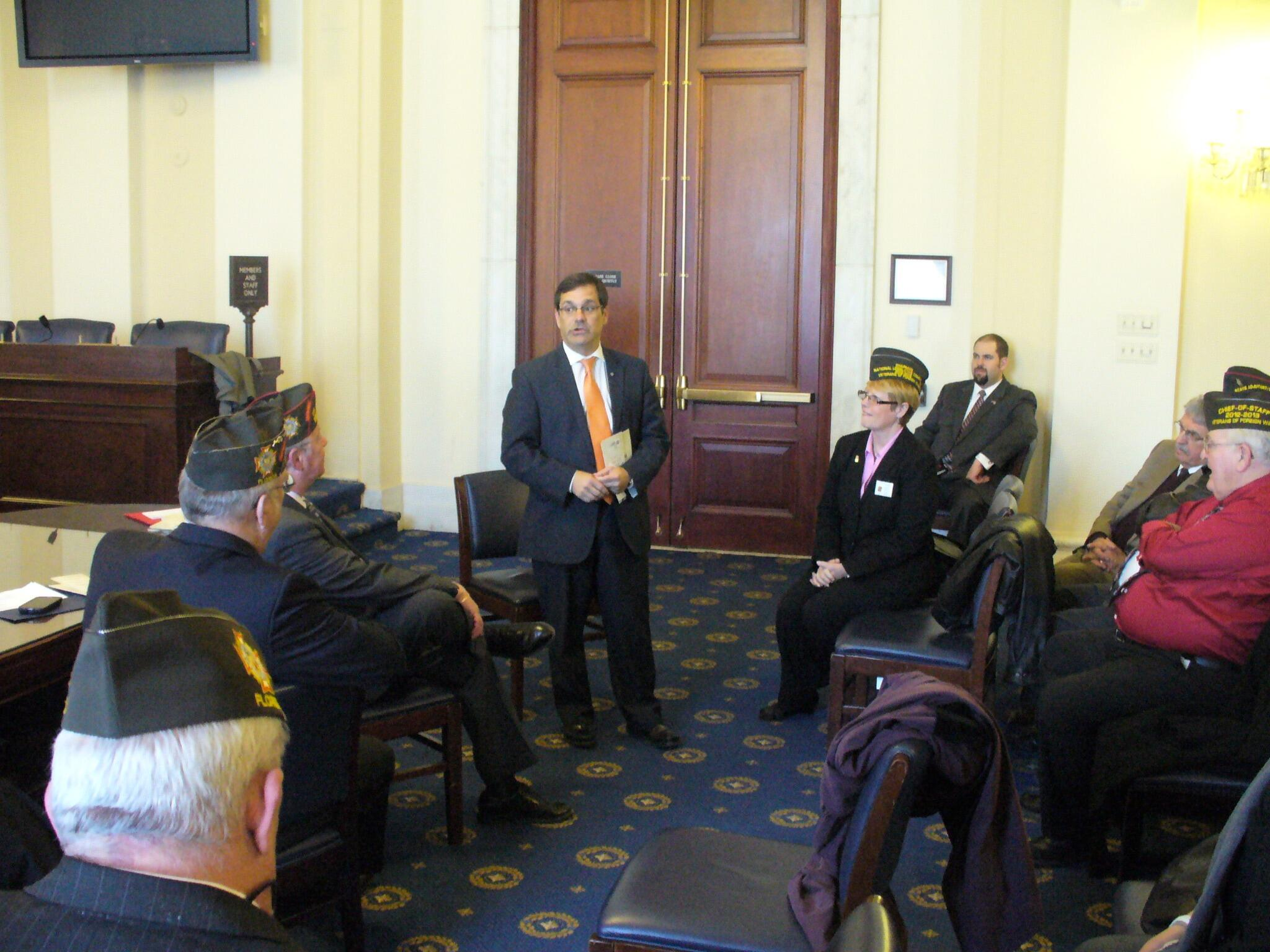 RT @VFWHQ: Florida VFW spoke to @RepGusBilirakis this week about GI Bill, health care, and other vets issues #VFWHill2014 http://t.co/Elya1FkRot