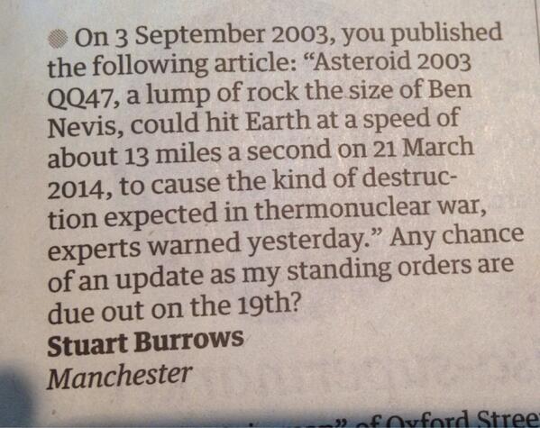 Guardian readers do remember... http://t.co/KspBHa6vVx