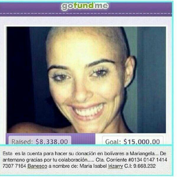 JiMENA  ARAYA (@JimenaarayaVzla): Un RT para ayudar a esta amiga ! Necesita de una operación costosa,! A vencer esa gran batalla mi  Pulguis ! http://t.co/I7vf6p74lb