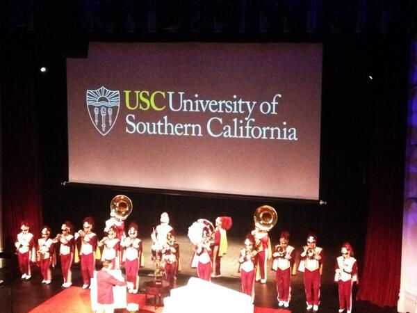 So proud of @USCTMB, who now have 134 women as part of their band! The @USCAlumni Women's Conference has begun! http://t.co/TyVBPzh3Hs