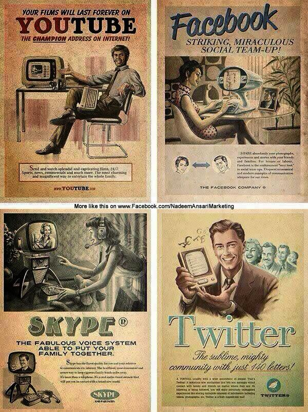 Retro Social Media - love it! http://t.co/3h36GK4eoA http://t.co/R6v0fAEpon