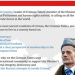 RT @CrimeaEU: Message from Mustafa Cemilev, leader of Crimean Tatars and Ukrainian MP to the World leaders. #Crimea #Ukraine http://t.co/lgzJc8Yidm