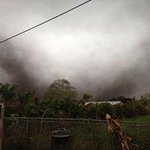 David Marrero sent us these pics of possible tornado on the ground in Belle Glade. http://t.co/PfF3rumXpw