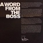 Message from The Boss 'David Moyes #MUFC http://t.co/hQzVUtZpqc