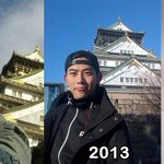 RT @Gladyzkhun: Taecyeon in front of Osaka Castle Arena Tour 2011 Arena Tour 2013 Arena Tour 2014 http://t.co/VyyjrRGJIc