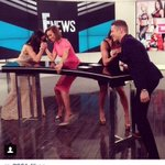 Tune into @ENews tonight to see if @JasonKennedy1 and I can beat Bella twins at arm wrestling!