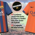 """@barcastuff: Image: Possible home and away shirts for next season http://t.co/5vs9u6wRJi [via @paul_flames]"""