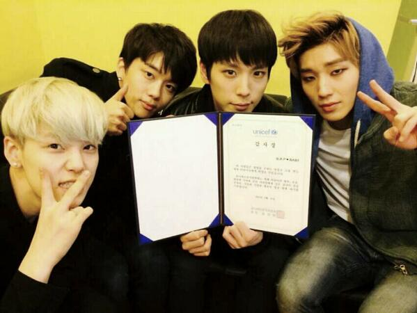 2월 24일 아이돌 그룹 B.A.P가 3월 8~9일 서울 콘서트를 앞두고 팬들과 함께 유니세프에 수동식 물 펌프를 후원해 줬습니다. 감사합니다! http://t.co/zYpS8LnyxN