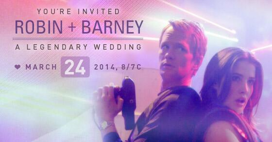 You're invited...to the legendary #HIMYMWedding! Will you be attending on 3/24? RSVP NOW: http://t.co/wsDDrWGaAa http://t.co/gF2SlYyDGF