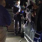 Just heading out when the captain hopped out of his car to oblige a horde of autograph seekers. http://t.co/aoyVah6RWQ