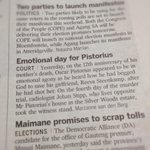#OscarPistorius is not headline news for every newspaper :) http://t.co/XrJ0ACIatH