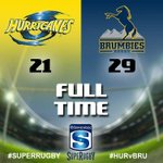 Full Time: Hurricanes 21 Brumbies 29 #SuperRugby #HURvBRU #PlayYourPart http://t.co/f4N8M967rk