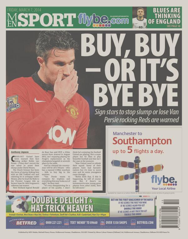 BiHN sRCEAAWn9j Ronald de Boer: Manchester United need to buy big players or risk losing Robin van Persie [M.E.N]