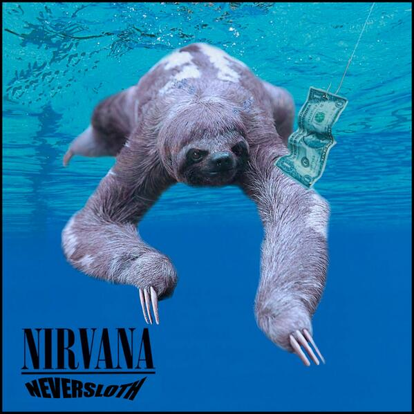 13 iconic album covers, improved by sloths http://t.co/JJdr6qIGun http://t.co/mSNw6lqlba @danjas @OdedFire @psiknakud @IMKristenBell