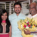 RT @OneindiaGallery: Superstar Rajinikanth blesses Telugu actor Raja and his old friend's daughter Amrita http://t.co/oCh8ktxAlG
