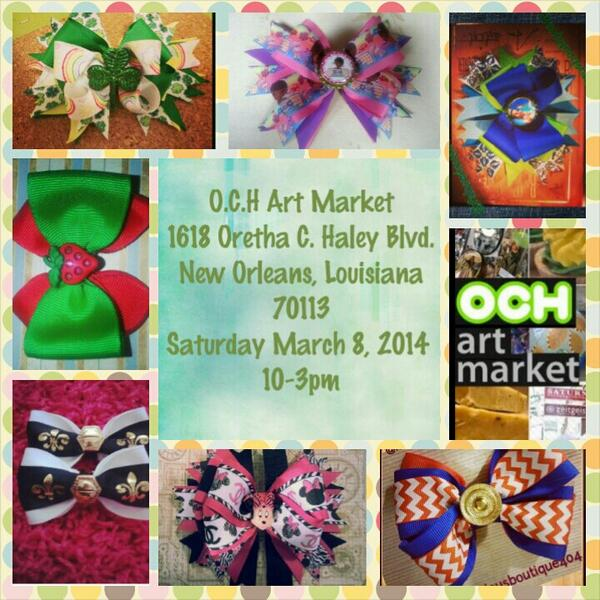 Make sure you guys visit @OCHArtMarketthis weekend! FaBOWlouS Boutique will be in the building ♥ :-) http://t.co/9a9NDZdTsS