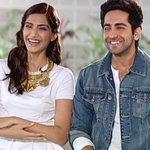 .@sonamakapoor & @ayushmannk on stripping down to their swimwear & sharing intense kisses: NowShowing 10.30pm CNN-IBN