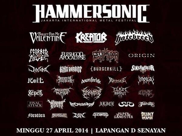 Panggung Gigantor berikutnya! @hammersonicfest Minggu, 27 April 2014. See you at the pit! \m/ http://t.co/bOHoW5OYJL