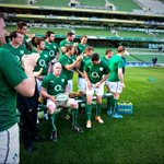 The lads give @BrianODriscoll some grief as hes late for his last ever @irfurugby #RBS6nations team shot today! http://t.co/YrtuuFshtf