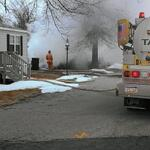 Smoke billows from the burnt remains of a trailer in Dover Twp. http://t.co/OjoBzDLPmZ