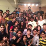 Students of @actorprepares cut a nice cake for me. Thank you.:) #HappyBirthdayToMe http://t.co/Q5nH6qk2LG