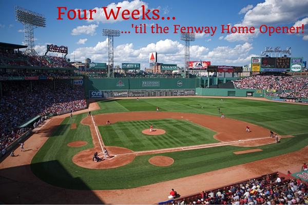 Only 4 more weeks 'til Opening Day!  #RedSoxNation http://t.co/TT6ghkiZRN