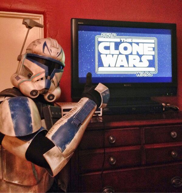 RT @TK6682: Midnight Clone Wars season 6 viewing party with Captain Rex! @starwars @netflix @TheCloneWars @Disney http://t.co/6ht8DB54V0