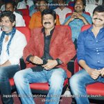 RT @idlebraindotcom: Jagapathi Babu, Balakrishna & Boyapati at Legend music launch #Legend http://t.co/33zYaOl3Hy