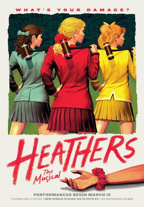We're getting closer to the first preview of @HeathersMusical!!! Get your tickets now http://t.co/BSA4wKU74D http://t.co/iOgvCoNP4X