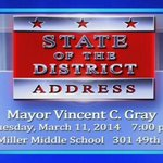 RT @OCTDC: UPDATE: http://t.co/dQEQ2GnBla - #DCN To Telecast #DC @mayorvincegray 2014 State Of The District Address LIVE 3/11/14 http://t.co/2kw8UgypLP