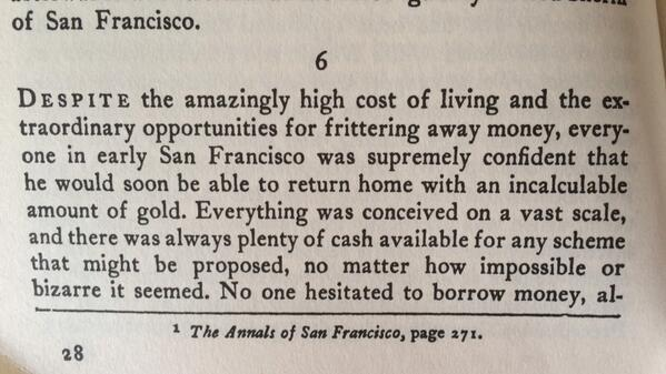 as it ever shall be. RT @gragtah: San Francisco described in a 1930s history book http://t.co/NulQq3a3XT