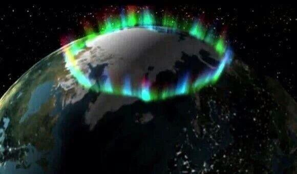 Picture taken by NASA of the northern lights from space: http://t.co/MpMOuGMwHm
