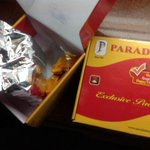 A friend brought paradise biryani from Hyderabad. Now eating.