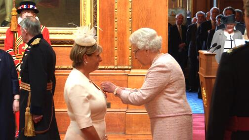 An amazing day. Received my OBE from The Queen. Thank you to all those 'who packed my parachute' to achieve this http://t.co/AulChpKdrY