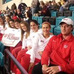 .@RadfordWTennis supporting @RadfordMBB at todays game #Will2Win #MyrtleBeachMadness http://t.co/s2z13jYvBN