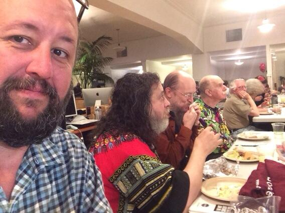 Lunchtime at Internet Archive with Stallman, John Gilmore, Howard Rheingold, Ted Nelson, Brewster and crew http://t.co/3rfabfJDBc