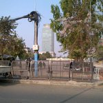 The current status of the Freedom Park in #Phnom Penh: no one is allowed inside! http://t.co/klZ7Iigx2w