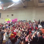 Our Lady Cards celebrating a district championship with our Cardinal Crazies! Love these kids! #CARDNATION #sjsdproud http://t.co/rvg8vy8ehU