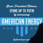 Dear President Obama: stand up to Putin by increasing American energy. http://t.co/dtBSA35Sy9