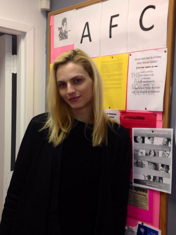 Thank U @Andrej_Pejic for stopping by the AFC drop in center today!Looking forward to the upcoming events! #lgbtyouth http://t.co/WvNCmKUv3m