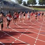 Division II girls 800 meter run start at first day of West Texas Relays at Ratliff Stadium. http://t.co/jE9XI2vjMo