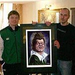 An even older painting of BOD, oh and me! #thirteen #BrianODriscoll #Irishrugby http://t.co/BvEYm2i0K3