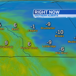 RT @CTVdavidspence: Its warm west of Hwy 2. East of Hwy 2, not so much. #yyc #Calgary http://t.co/EaAokYVGcM