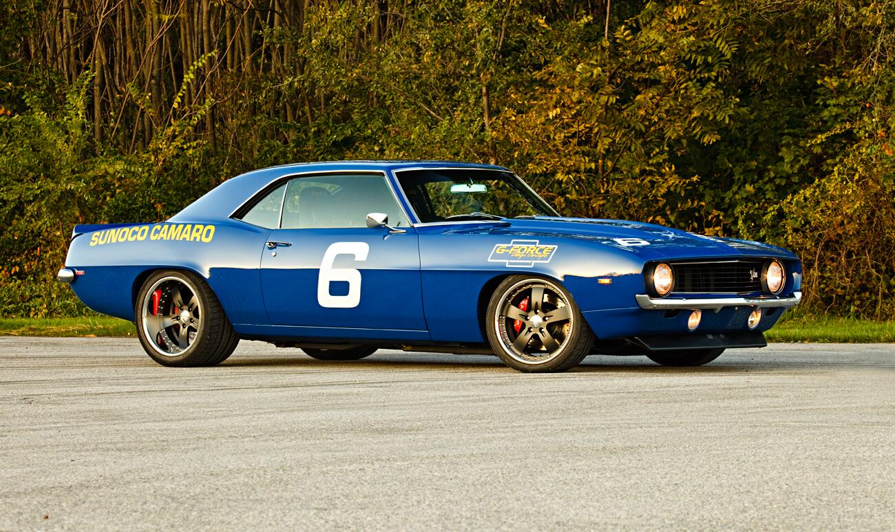 We love a good tribute #camaro and this Sunoco/Mark Donohue-styled '69 built by G-force Design Concepts is all that. http://t.co/n0qPnqizIM