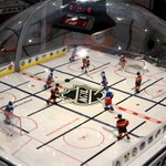 This classic bubble-hockey table comes with a